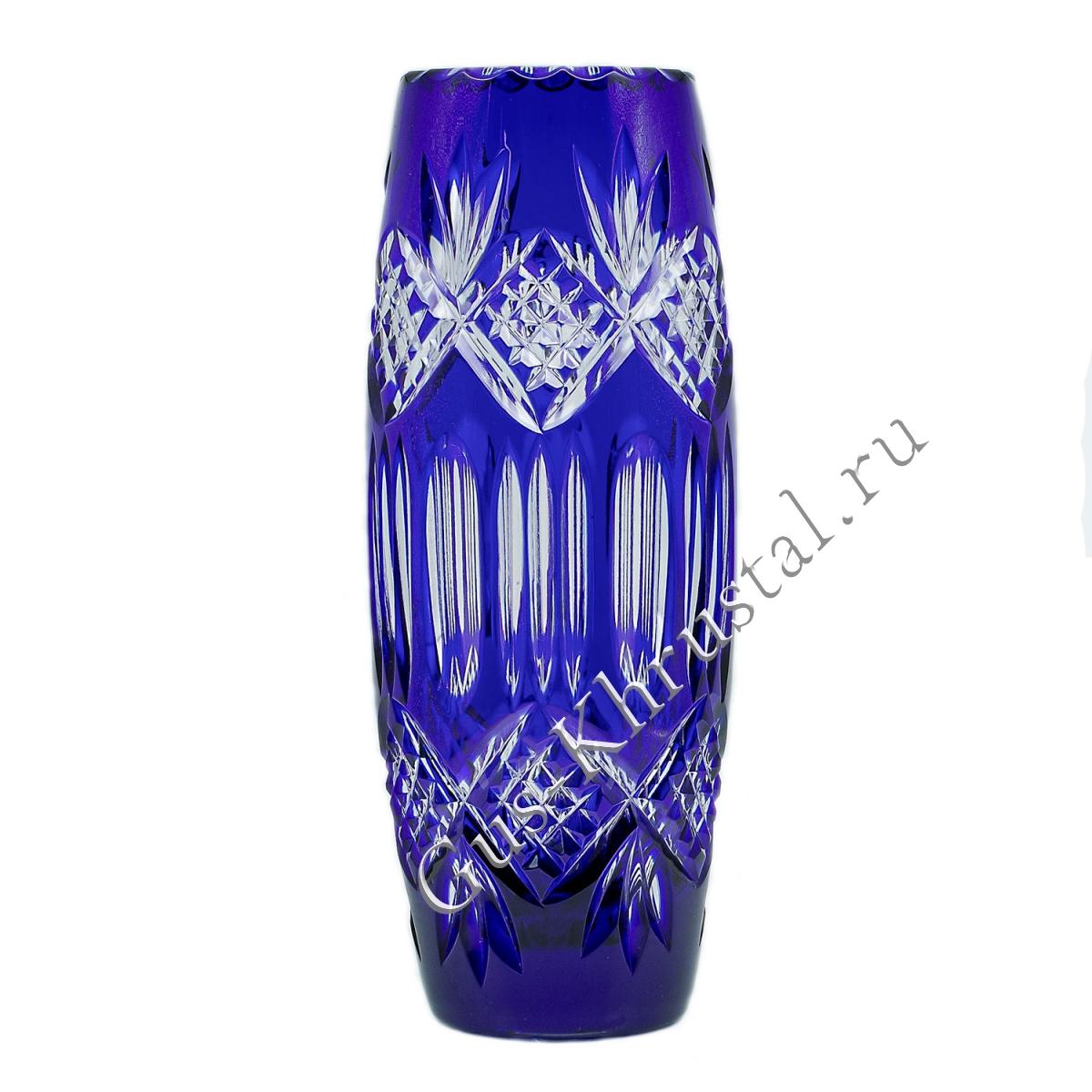 Ваза Хрустальная Для Цветов Синяя 1