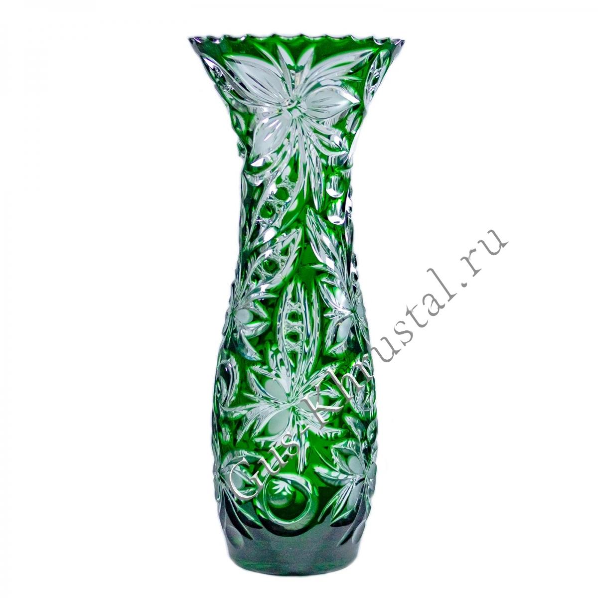 Ваза Хрустальная Для Цветов Натали зеленая