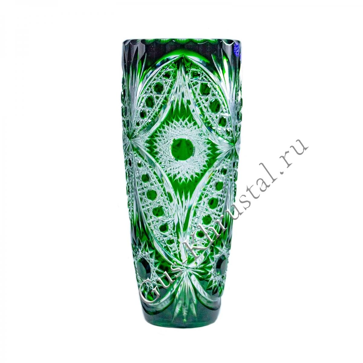 Ваза Хрустальная Для Цветов Этюд зеленый
