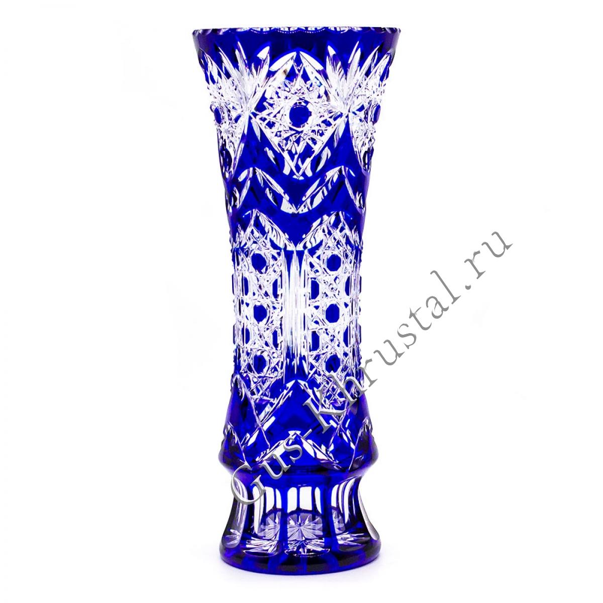 Ваза Хрустальная Для Цветов Синяя Первоцвет